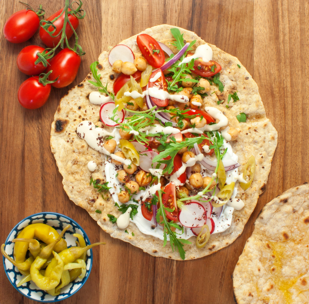 Loaded Moroccan Flatbreads
